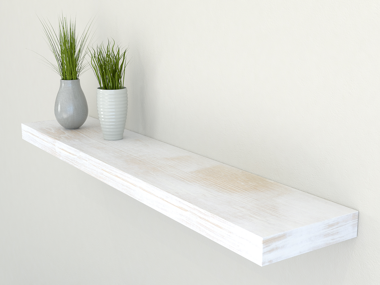 rustic shelves white shelves oak floating shelf. Black Bedroom Furniture Sets. Home Design Ideas