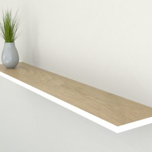 wimbourne white edge painted oiled oak floating shelf slimline shelves oak wall shelf solid oak shelf