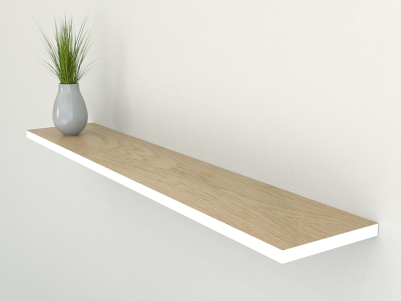 thin oak floating shelf oak floating shelves slim oak. Black Bedroom Furniture Sets. Home Design Ideas
