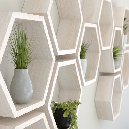White hexagon shelves limed oak hexagon shelf solid oak hexagon shelf honeycomb shelf
