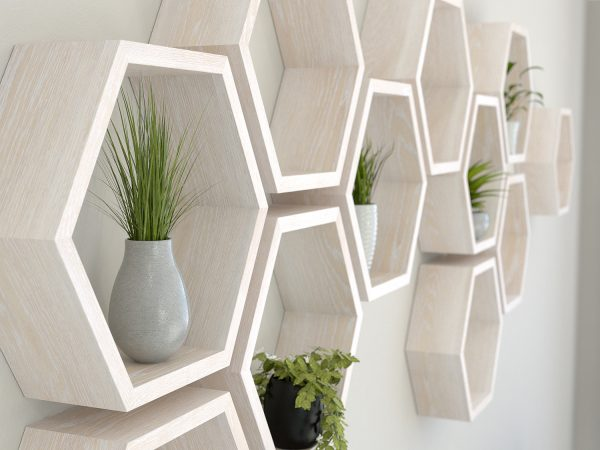 White hexagon shelves limed oak hexagon shelf solid oak hexagon shelf honeycomb shelf