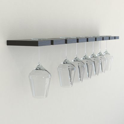 Wine glass rack black oak wine glass rack wine glass storage glass shelves