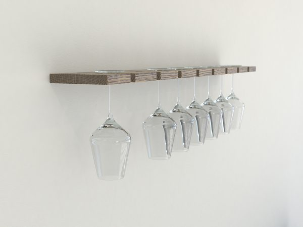 Wine glass rack dark oak wine glass rack wine glass storage glass shelves