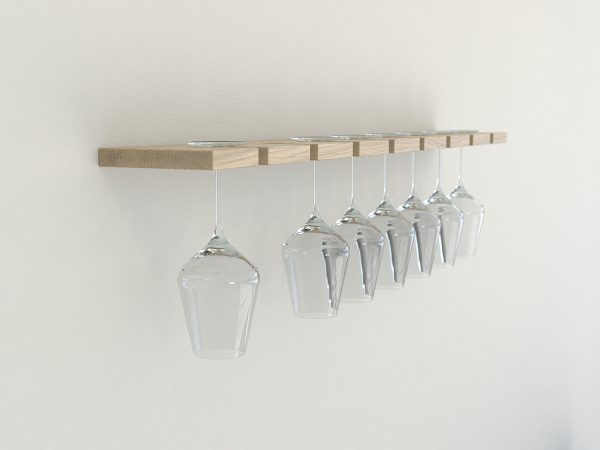 Wine glass rack oiled oak wine glass rack wine glass storage glass shelves