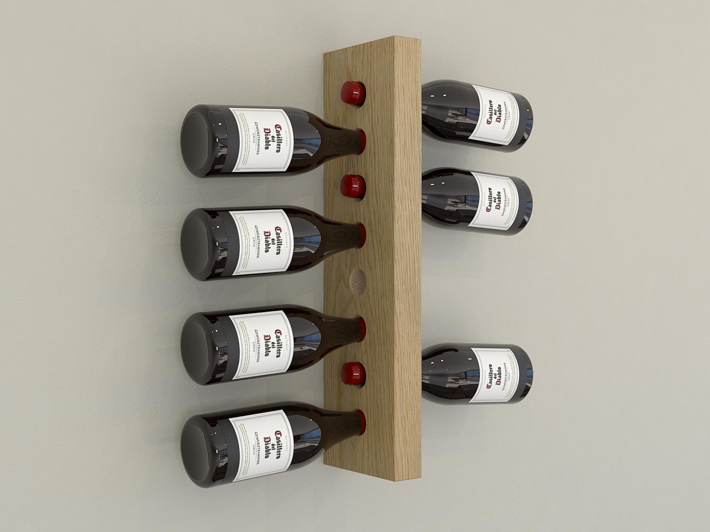 Floating Oak Wall Mounted Wine Rack Wine Bottle Rack Wine Bottle