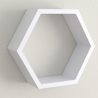All painted calluna hexagon shelf