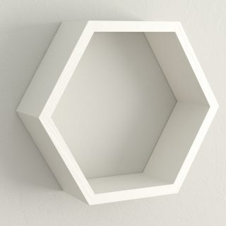 All painted cornforth white hexagon shelf