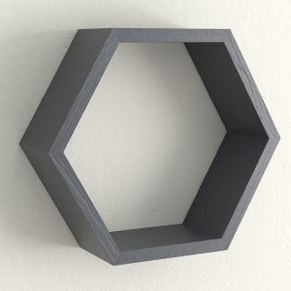 All painted railings hexagon shelf