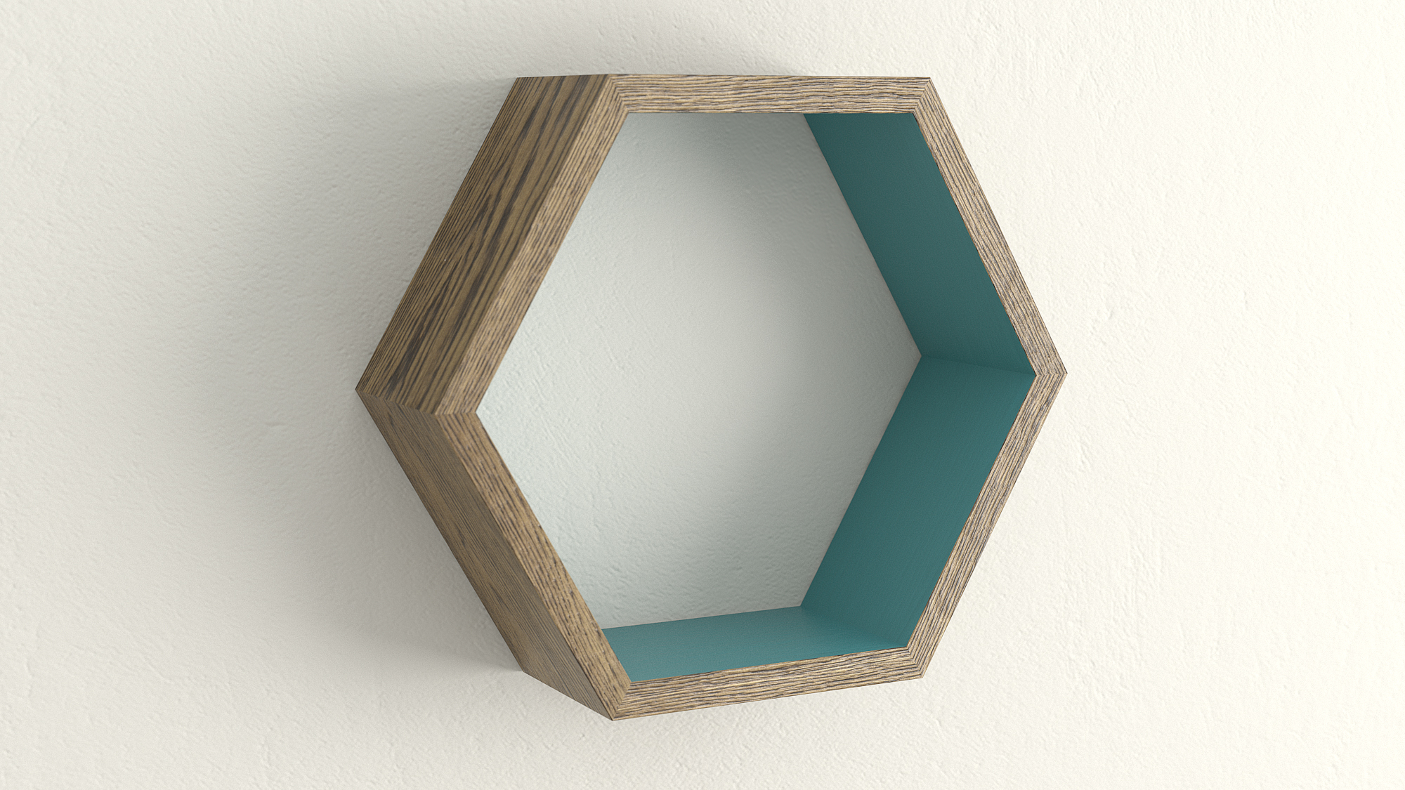 Dark oak and vardo hexagon shelf