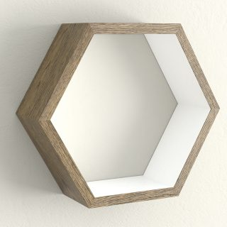 Dark oak and wimborne white hexagon shelf
