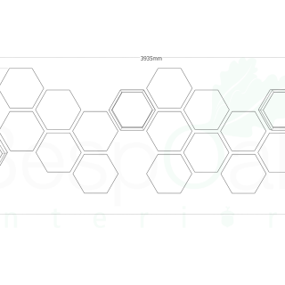 Hexagon feature wall layout drawing