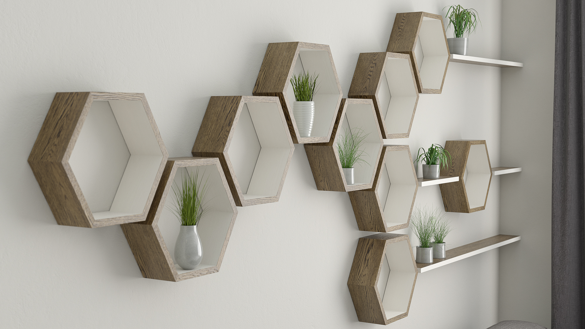 Hexagon Wall Shelves Ideas