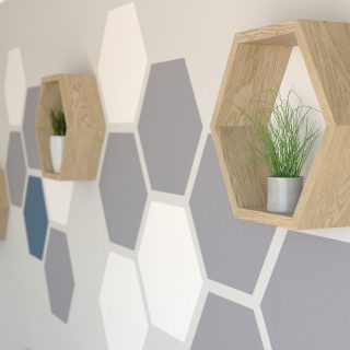 Painted hexagon wall feature hexagon tile honeycomb feature wall accent wall feature wall paint