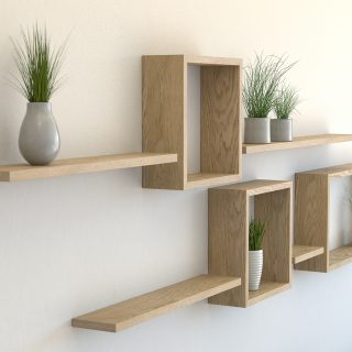 Wall shelf ideas oiled oak square shelves rectangle shelf and floating shelves 20mm solid american white oak
