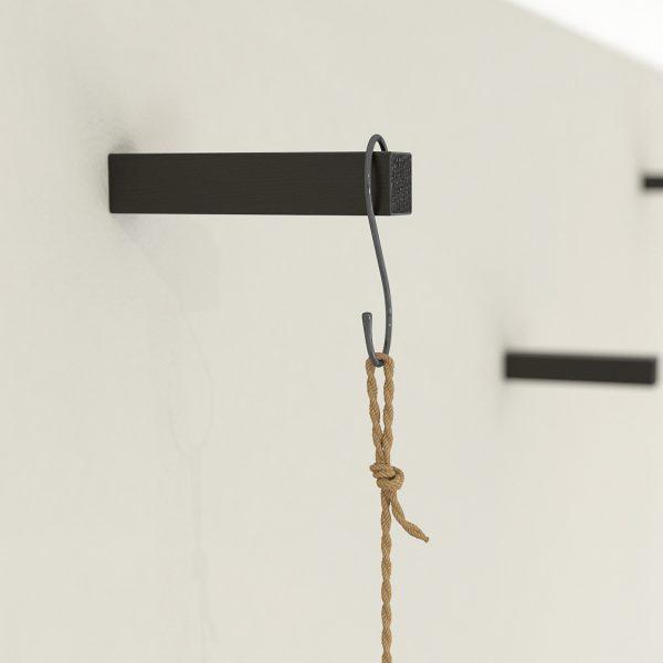 Black oak coat hooks wall hook hanging plant hook wooden wall pegs