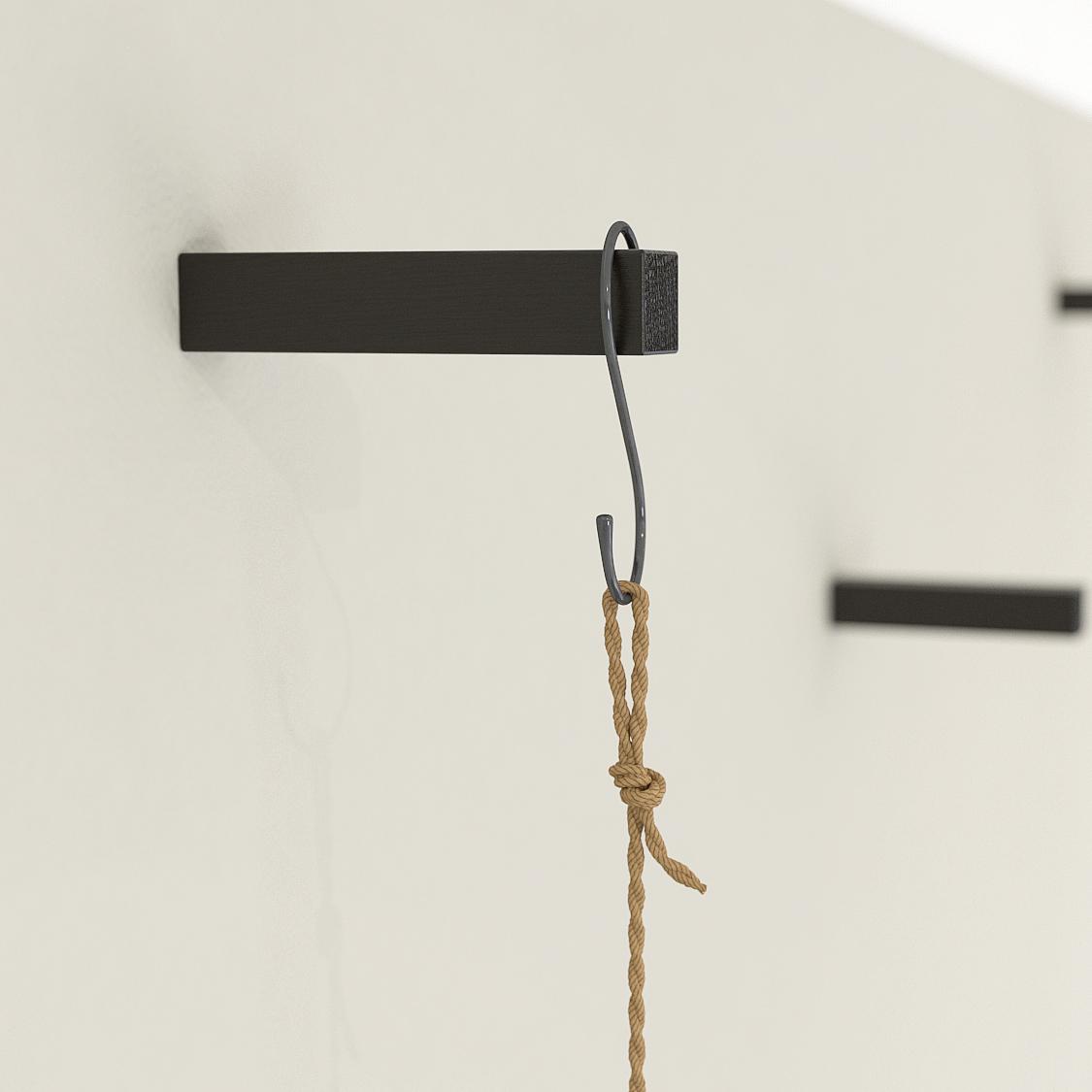Black Oak Coat Hooks Universal Wall Hooks Plant Hooks