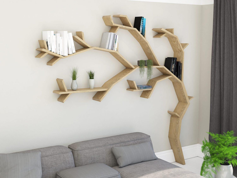 The Windswept Oak Tree Shelf Tree Bookcase Tree Shaped Bookshelf