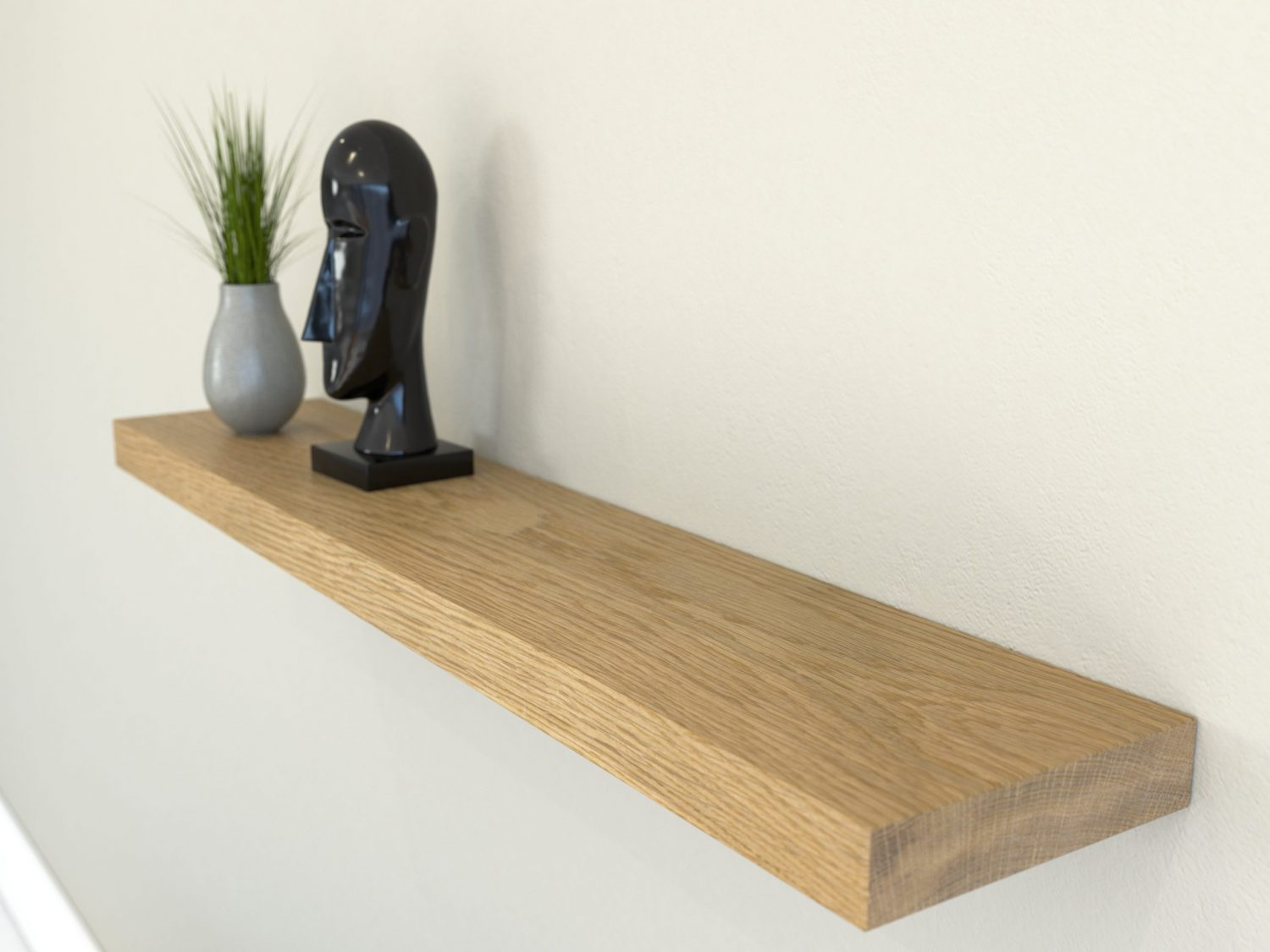 oiled oak floating shelf shelves oak wall shelf solid oak shelf scaled e