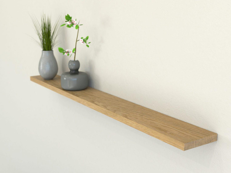 oiled oak floating shelf shelves slimline oak wall shelf solid oak shelf 120 scaled e
