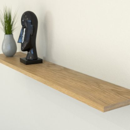 oiled oak floating shelf shelves slimline oak wall shelf solid oak shelf