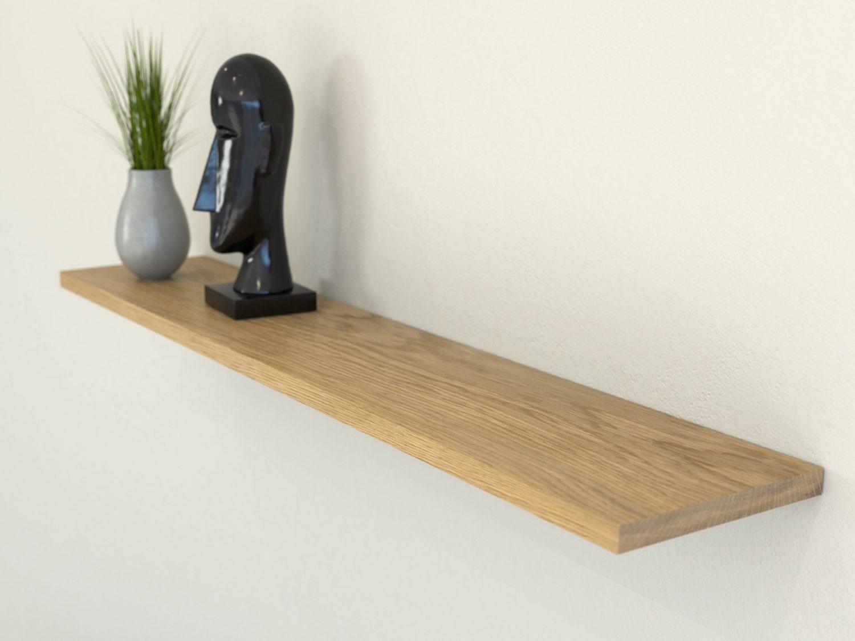 oiled oak floating shelf shelves slimline oak wall shelf solid oak shelf scaled e